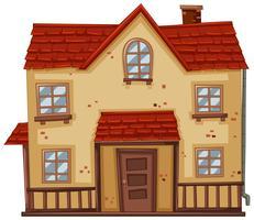 Vieille maison au toit rouge