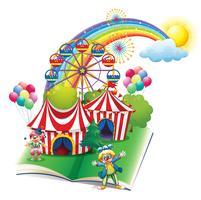 Un livre de contes sur le carnaval vecteur