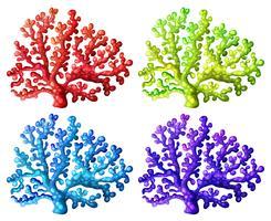 Récifs de corail colorés vecteur