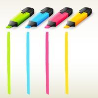 Surligneurs colorés vecteur