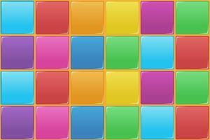 Modèle sans couture carré coloré vecteur