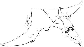 Contour animal pour ptérosaure vecteur