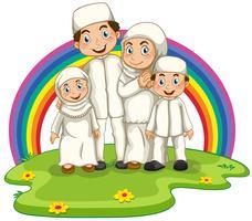 Famille musulmane vecteur