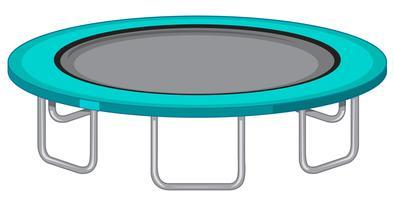 Fond blanc grand trampoline vecteur