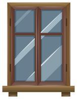 Fenêtre avec cadre en bois