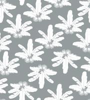Modèle de plume. Plumes blanches sur fond gris. texture transparente oreiller naturel. vecteur