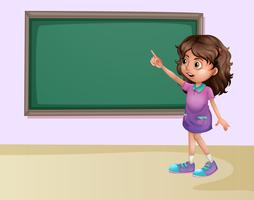 Fille en classe vecteur