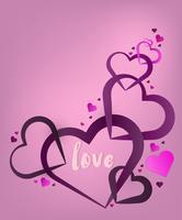 Coeur Saint-Valentin. Fond coeur décoratif avec des coeurs de la Saint-Valentin. concept amour et Saint Valentin, style art papier. vecteur