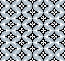 Cercles de fond sans couture florale. Ornement géométrique élégant vecteur
