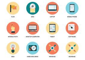 Icônes d'affaires définies pour l'affiche de l'entreprise
