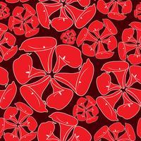 Modèle sans couture floral oriental abstrait. Fond ornement géométrique de fleurs. vecteur