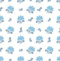 Swirl motif floral sans soudure. Ornementaux s'épanouir dans un style russe sur fond blanc.