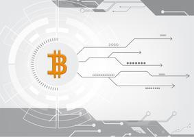 Technologie de blockchain de crypto monnaie abstraite bitcoin Illustration de fond
