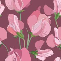 Floral pattern sans soudure. Fond de tourbillon de fleurs. Ornamen floral vecteur