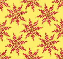 Motif ethnique floral abstrait. Ornement floral géométrique.