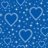 Motif de tuiles de coeur de neige. Fond de vacances d'hiver