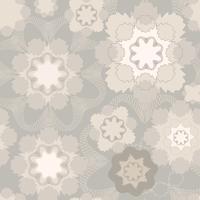 Ornement géométrique floral abstrait. Motif de lignes sans soudure vecteur