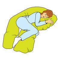 femme endormie vecteur
