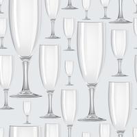 Modèle sans couture de verre à vin. Boire du fond de vin. Décor de fête vinaire
