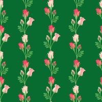 Floral pattern sans soudure. Fleur rose fond vecteur