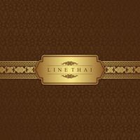 Temple de luxe de l'art thaïlandais, motif de décoration de fond pour l'impression, flyers, affiches, web, bannière, brochure et carte concept illustration vectorielle vecteur