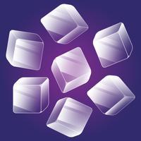 Ice Cube Icons Set d'éléments isométriques