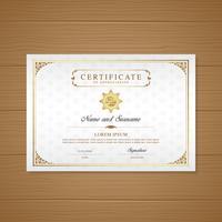 Certificat et diplôme de luxe d'appréciation et illustration vectorielle de modèle moderne design vecteur
