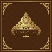 Art thaïlandais, temple, décoration de fond pour flyers, affiches, web, bannière, autocollant et illustration vectorielle carte