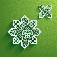 Graphique en papier de l'élément de design islamique