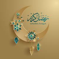 Papier graphique de croissant de lune islamique