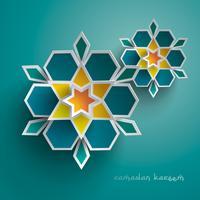 Papier graphique d'art géométrique islamique vecteur
