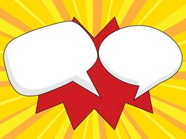 pop art, bulle de dialogue vierge bande dessinée vecteur