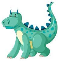 Un personnage de dragon vert