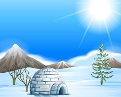 Igloo dans le pôle nord vecteur