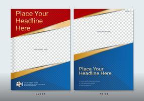 Modèle de conception de livre de couverture avec un espace pour l'événement sportif.