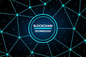 Technologie abstraite de blockchain vecteur
