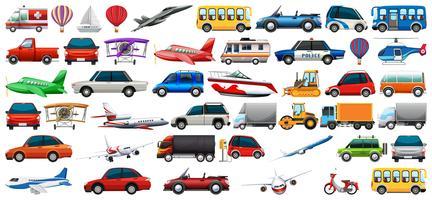 Ensemble de véhicule de transport vecteur