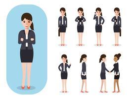 Ensemble de femme d'affaires au travail.