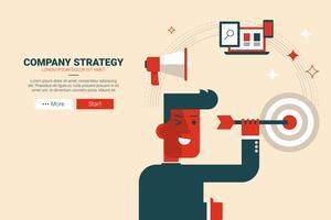 Concept de stratégie d'entreprise vecteur