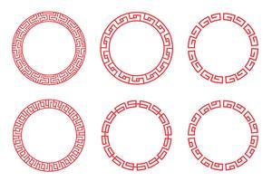Scénographie de cercle rouge chinois