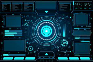 Tableau de bord abstrait Technologie Interface hud vecteur