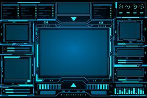 Tableau de bord abstrait Technologie futuriste vecteur
