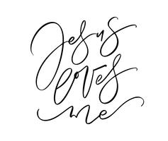 Jésus m'a toujours écrit à la main le texte de lettrage de calligraphie vectorielle. Citation de christianisme pour la conception, bannière, superposition d'affiche photo, conception de vêtements vecteur