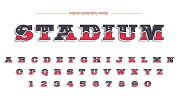 Conception de typographie de style occidental vecteur