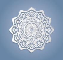 Cartes ou invitations avec motif de mandala. Éléments vectoriels très détaillés de mandala dessinés à la main vintage. Carte d'ornement de fête de dentelle de luxe. Motifs islamiques, arabes, indiens, turcs, ottomans et pakistanais.