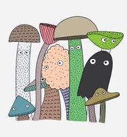 Les champignons ont les bienfaits pour la santé de tous vecteur