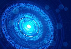 Concept de cyber-sécurité des yeux bleus, résumé hi internet numérique de vitesse. technologie future, fond de vecteur. vecteur