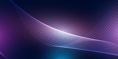 Conception de bannière abstraite avec des points de demi-teintes