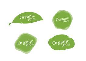 Bio 100% étiquettes vecteur
