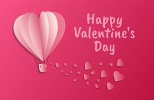 amour carte d'invitation abstrait de la Saint-Valentin. Carte de voeux, design plat Amour heureux. peut être ajouter du texte. illustration vectorielle